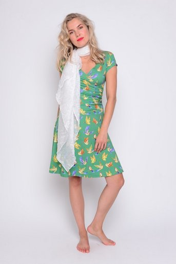 Angelina Birds green viscose