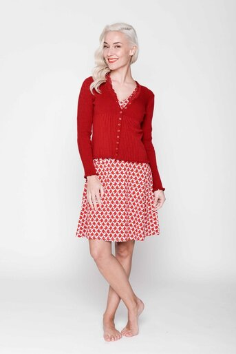 Cardigan Jewel dark red viscos