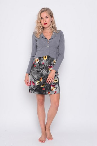 Cardigan Kelly short grey visc