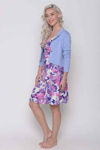Cardi short Kelly viscose lave