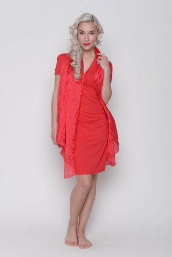 katinka dress red viscose klae