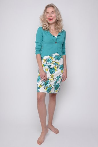 Skirt Funny viscose exotic blu