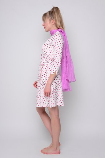 Wrapdress dots natural fuxia v