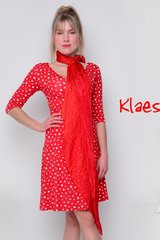 Angelina dots viscose red whit