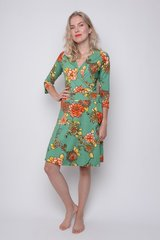 Wrapdress viscose exotic green